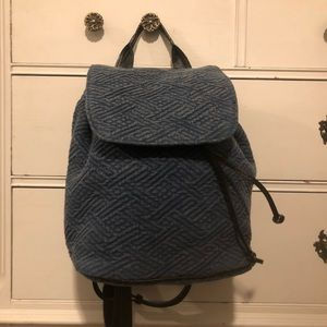 Small heather blue backpack